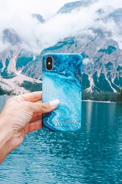Fashion Case Andrea Norrman iPhone - Blue Opal