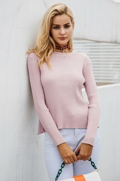 Pink Twister Sweater