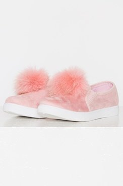 Pom Pom Shoes - Pink