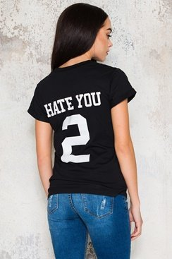 Hate You T-shirt - Black