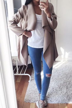 Reveal Coat - Beige