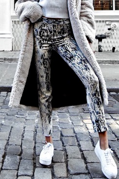 Snake print skinny jeans - Quest