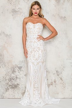 Shining Maxi Dress - White