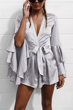 Shiny Playsuit - Silver