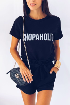 Shopaholic T-shirt - Black