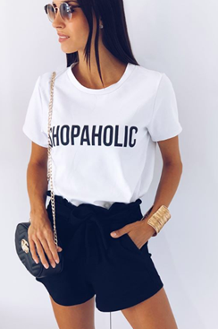 Shopaholic T-shirt - White