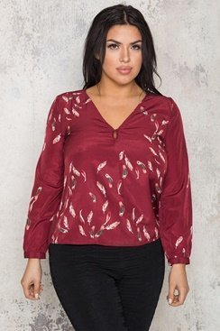 Silky Feather Blouse