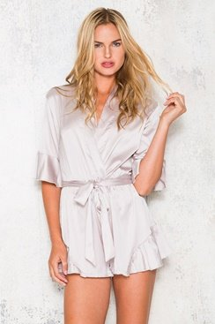 Slumber Party Playsuit - Ice