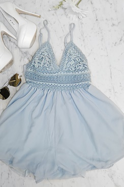 So Adorable Playsuit - Blue