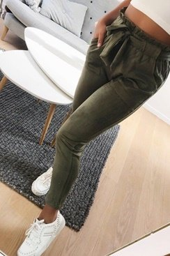 Suede Freya Pants - Green
