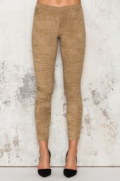Suede Pants - Sand