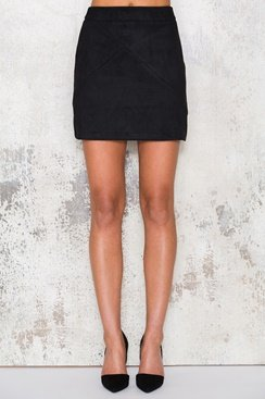 Suede Skirt - Black
