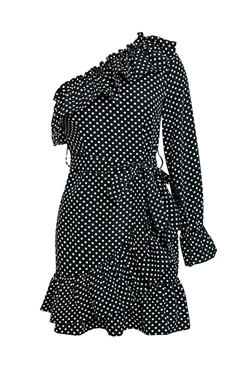 Black dress with dots - Nori