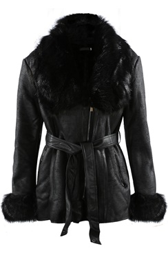 Vegan Cervina Coat - Black