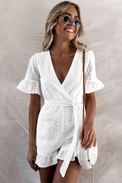 White playsuit - Cynthia