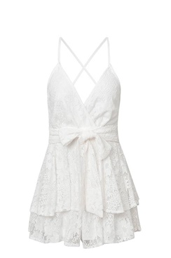 Hvite playsuit i blonder - Glory
