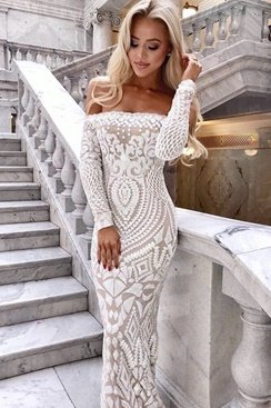 White Sparkle Maxi Dress