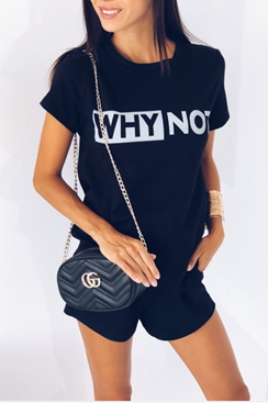 Why Not T-shirt - Black