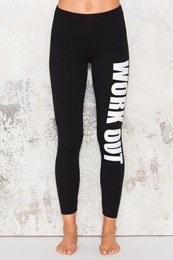 Work Out Pants - White/Black