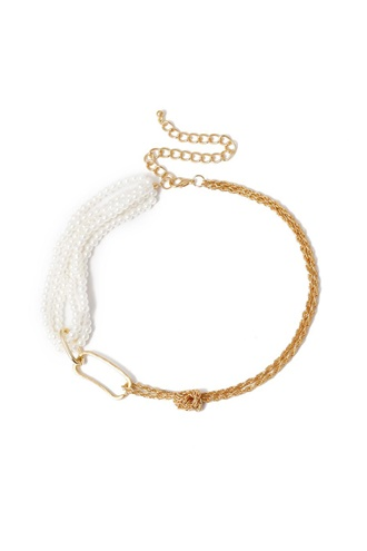 Gold necklace with pearls - Ring of Pearls