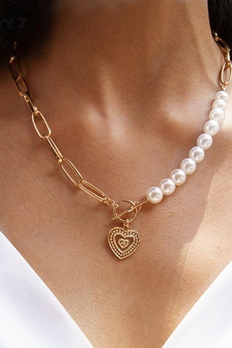 Gold necklace - Heart