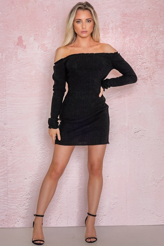 Kendra Knitted Dress - Black