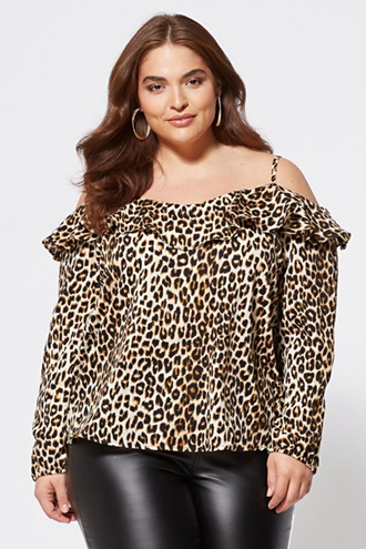 Geopard patterned top - Megan Top