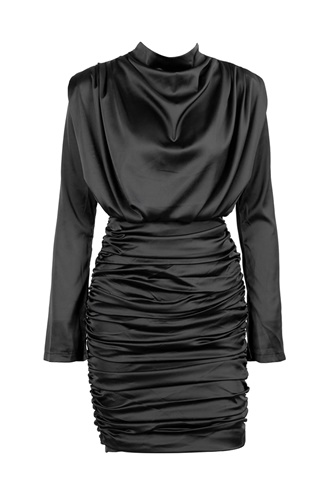 Black draped dress - Swan