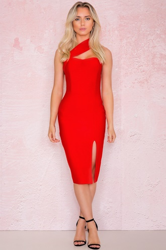 Exclusive Bandage Dress Red - Alessia