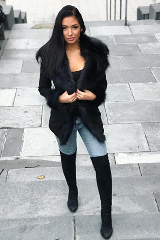 Dolce Faux Fur Coat - Black