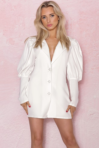 White blazer dress - Boss Babe