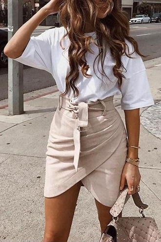Skirt with suede effect - Wrap Suede