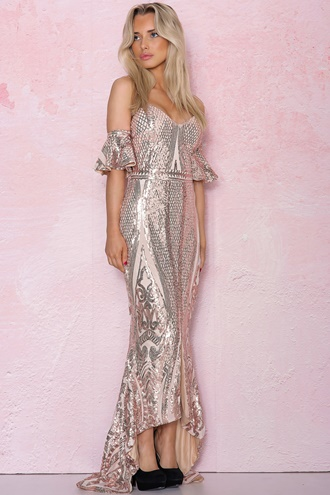 Maxi dress with a slit - Sophie