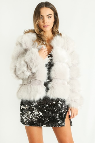 Light grey faux fur - Azzy