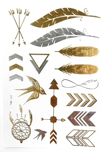 Metallic Jewelry Tattoos - Arrows