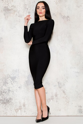 Morticia Dress- Black