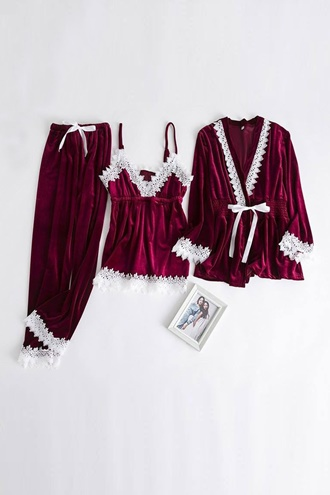 Pajamas Set - Red