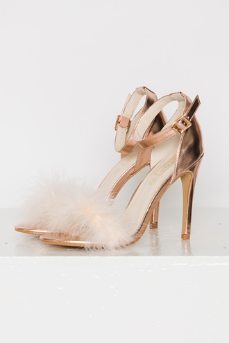 Rihanna Heels - Rose Gold