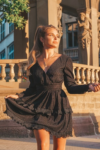Black dress with ruffles - Ritual