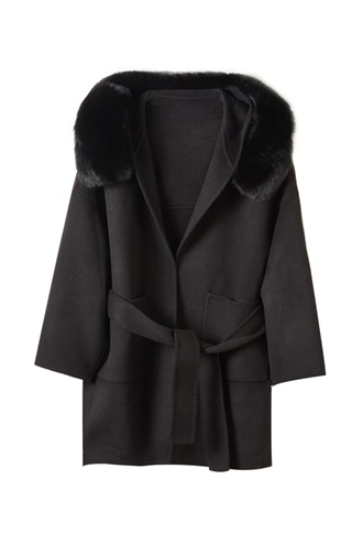 Black virgin wool coat - Mango