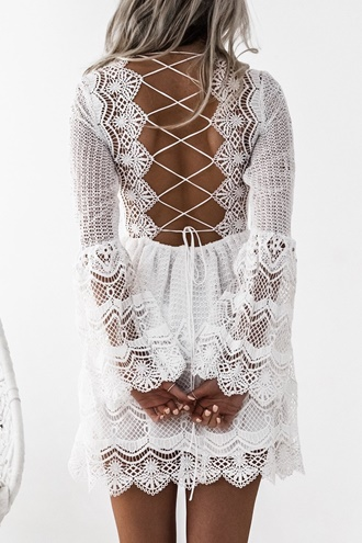 White lace dress - Symphony