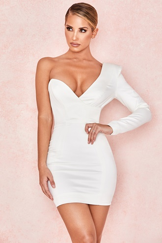 White One Sleeve Dress - Campbell