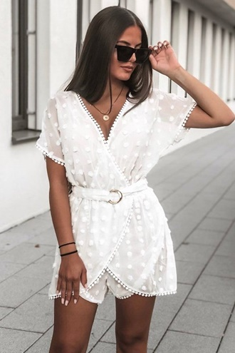Weißer playsuit - Dolce
