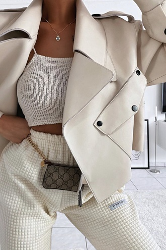 White lamb skin jacket - Chloe