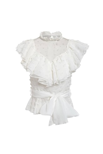White ruffle top - Celle