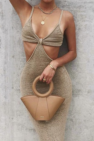 Palm Spring Dress - Khaki