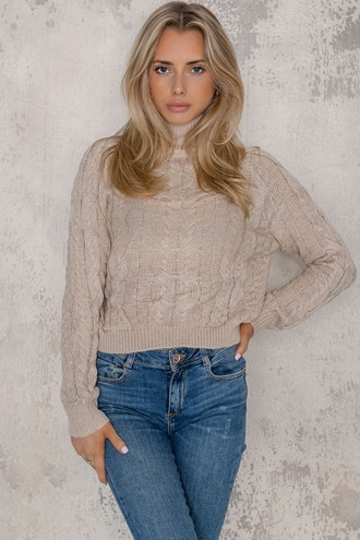 Knitted sweater beige - Lauren