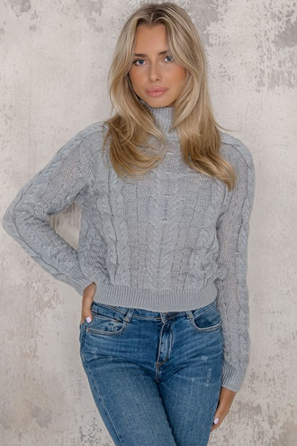 Knitted sweater grey - Lauren