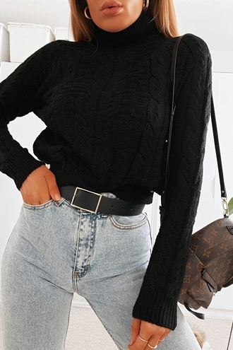 Knitted sweater black - Lauren