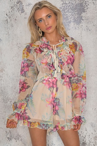 Floral playsuit - Flora